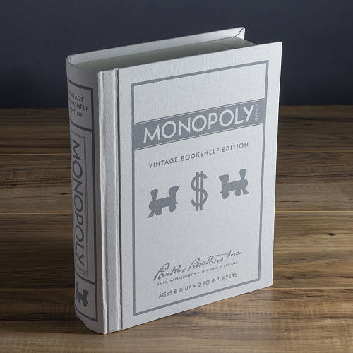 Monopoly Game Linen Book Vintage Edition Board Game