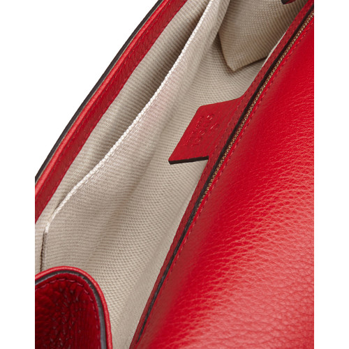 GUCCI Soho Flap Clutch, Red