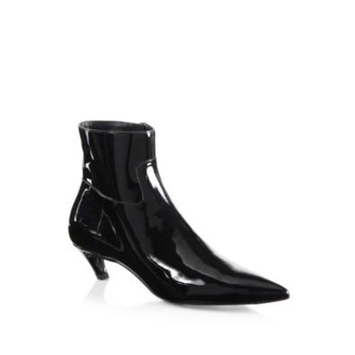 BALENCIAGA Broken Heel Patent Leather Booties