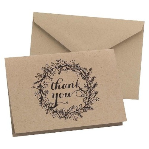 Hortense B. Hewitt 50 Count Krafty Thank You Cards [Krafty]