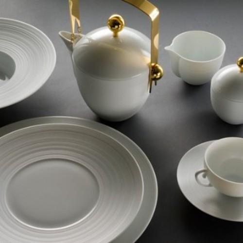 Hemisphere White Coffee/Tea Pot