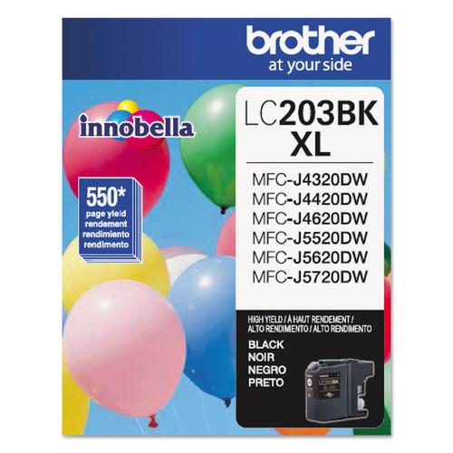 Brother BRTLC203BK LC203BK Innobella High-Yield Ink, Black