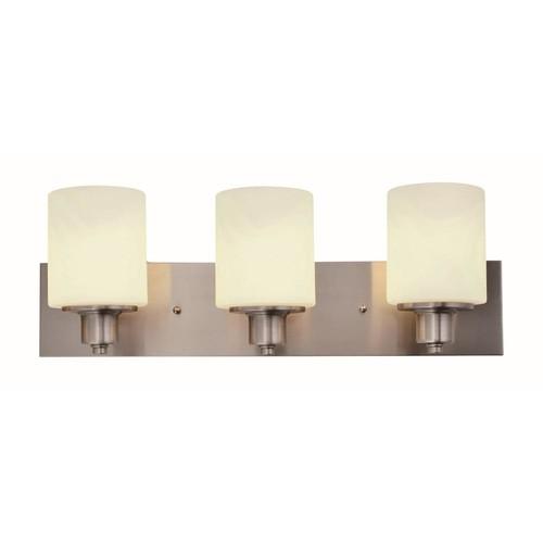 Design House Dane 3-Light Satin Nickel Vanity Light