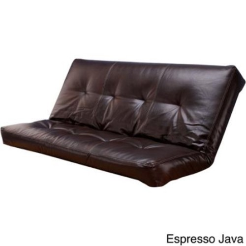 Somette Bonded Leather Oregon Trail Full-size Futon Cover Espresso Java Cover