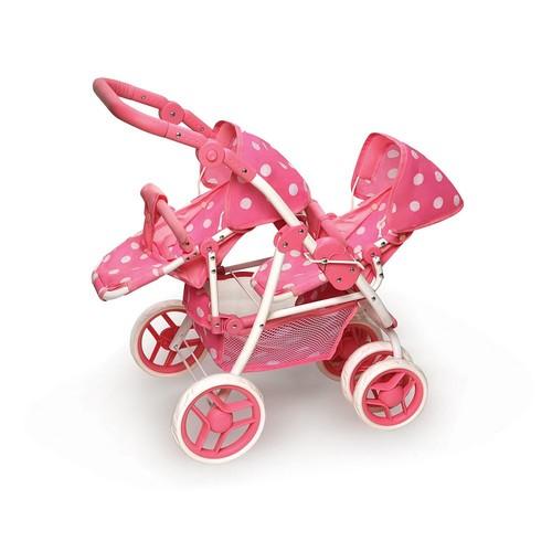 Badger Basket Convertible Double Doll Stroller
