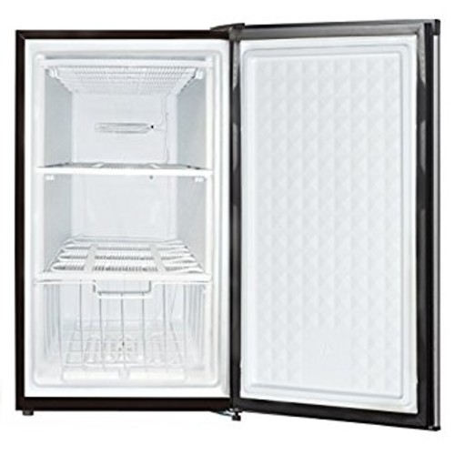 Midea WHS-109FSS1 Compact Single Reversible Door Upright Freezer, 3.0 Cubic Feet, Stainless Steel [Stainless Steel]