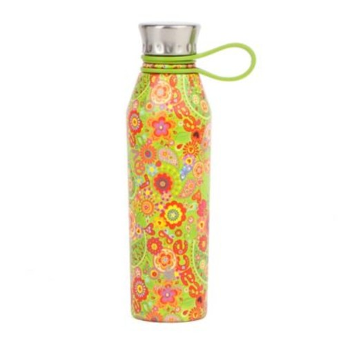 Manna Haute 18 oz. Double Wall Stainless Steel Water Bottle in Peace & Love