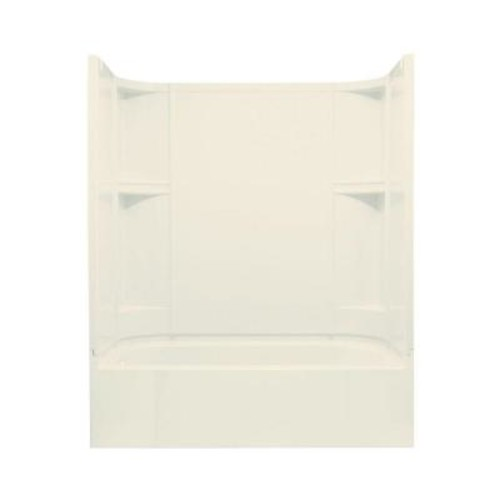 STERLING Accord 30 in. x 60 in. x 72 in. Standard Fit Shower Kit in Biscuit