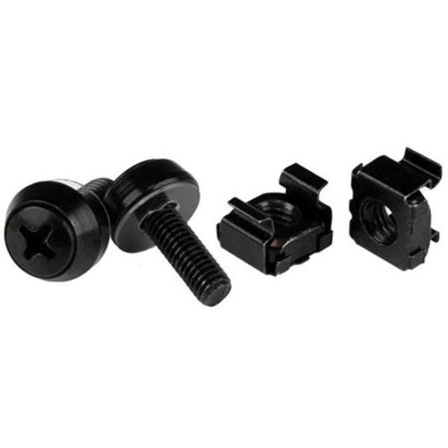 StarTech M5x 12mm Screw and Cage Nut, 100 Pack, Black CABSCREWM52B
