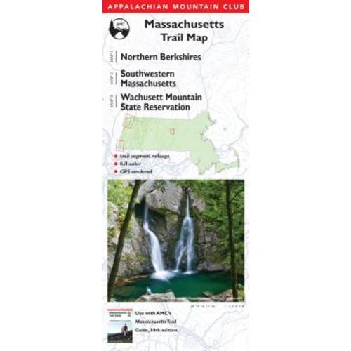 Appalachian Mountain Club Massachusetts Trail Map Northern Berkshires / Southwestern Massachusetts / Wachusett Mountain State Reservation