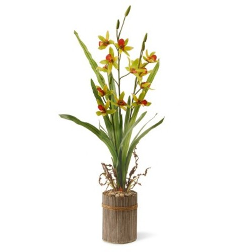 Garden Accents Artificial Potted Flower Red 30