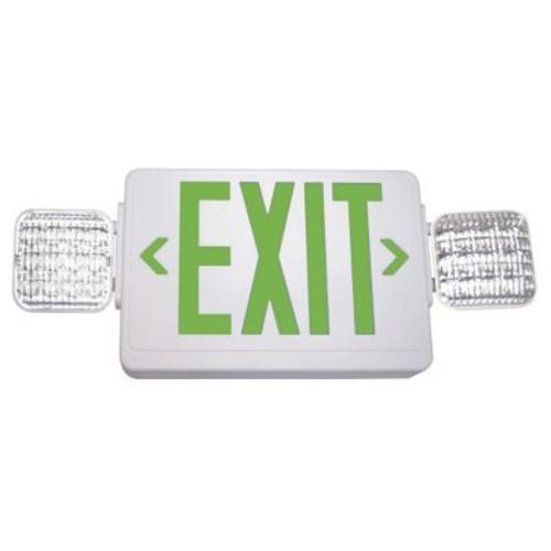 Barron Lighting Exitronix Exit/LED Emergency Combo Light; Green