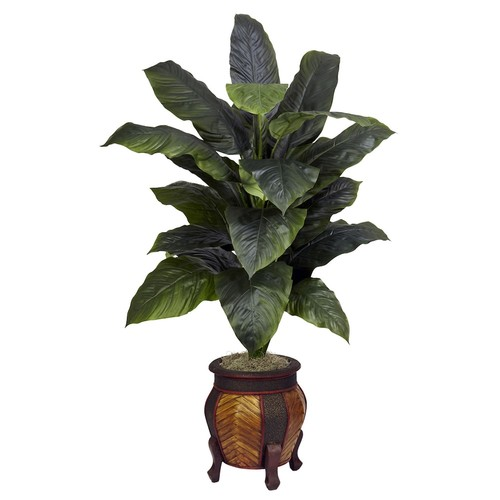 nearly natural Silk Giant Spathyfillum Plant