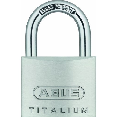 ABUS 64TI/40 C KD Titalium Aluminum Alloy Keyed Different Padlock 1-1/2-Inch Padlock with 1/4-Inch Diameter Nano Protect Steel Shackle