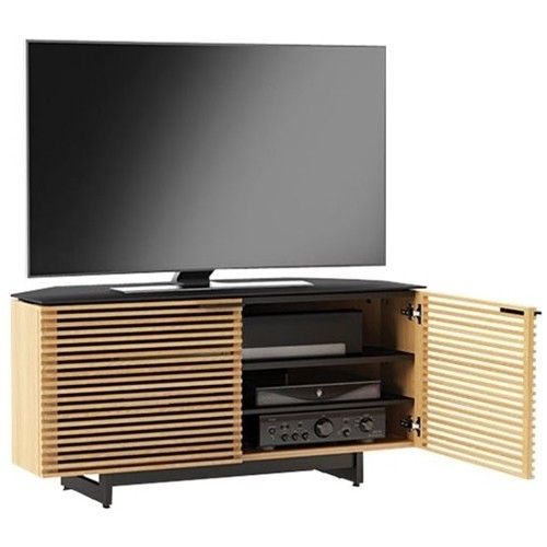 BDI Corridor 8175 (White Oak) Corner audio/video cabinet for TVs up to 55
