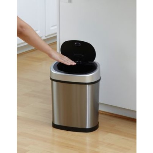 Nine Stars 3.2gal/12L Stainless Steel Motion Sensor Trash Can (DZT-12-9)