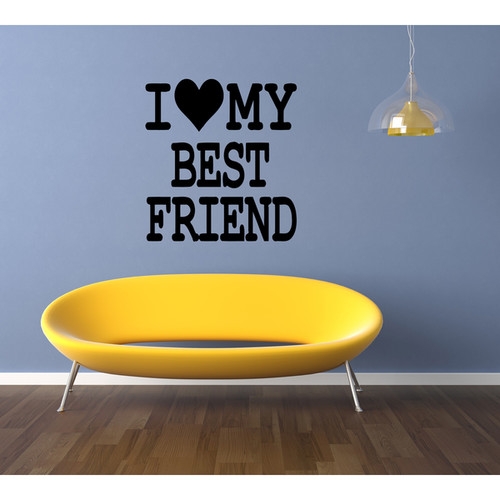 I love my best friend Wall Art Sticker Decal