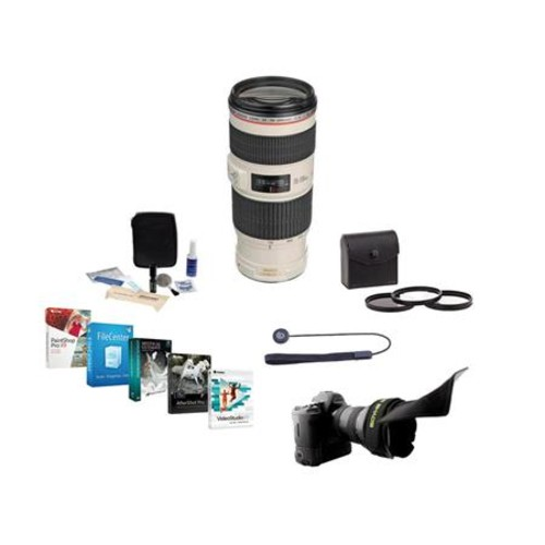 Canon EF 70-200mm f/4L IS USM Lens with Accessory Bundle 1258B002 NK