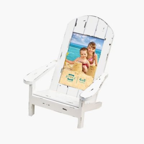 Prinz Easy Livin' Adirondack Style Wood Chair Picture Frame; White