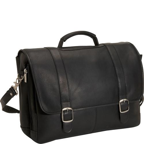 David King & Co. Porthole Laptop Briefcase [Black]