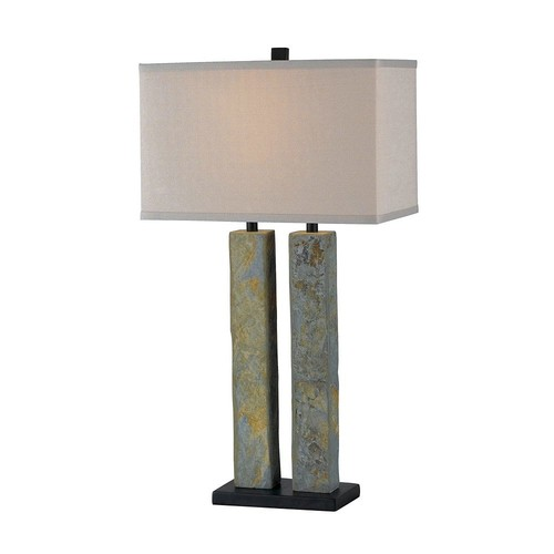Kenroy Home Barre 31 in. Natural Slate Table Lamp