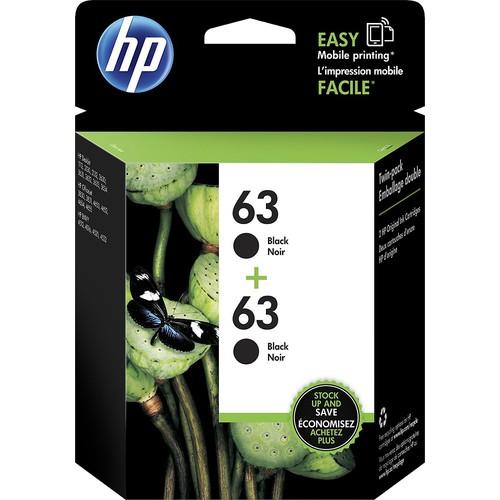 HP - 63 2-pack Ink Cartridges - Black