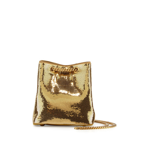 SAINT LAURENT Emmanuelle Sequined Baby Bucket Bag, G