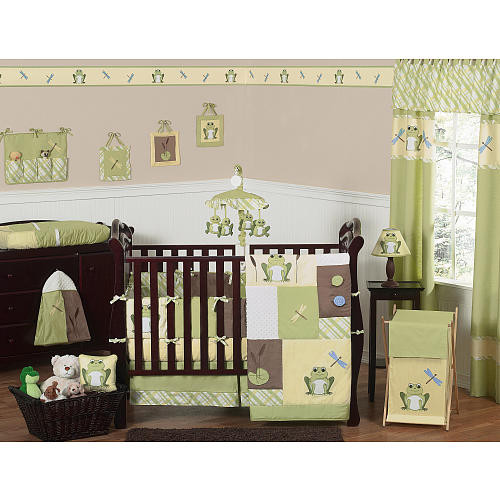Sweet Jojo Designs Leap Frog Collection Plaid Fitted Crib Sheet