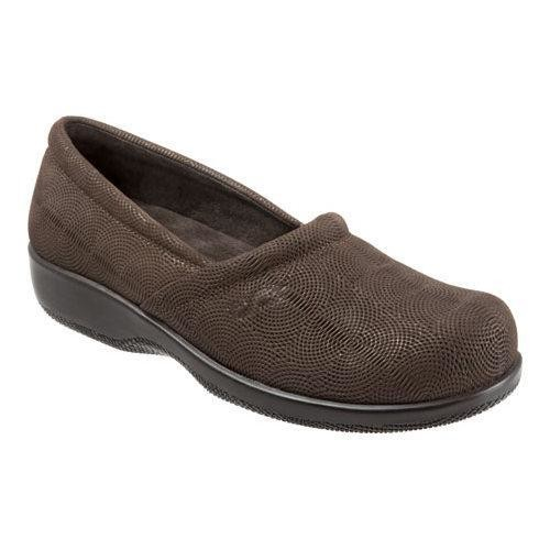 Women's SoftWalk Adora Brown/Dark Bronze Metallic Embossed Circle Leather [Shoe Width : m (regular)]