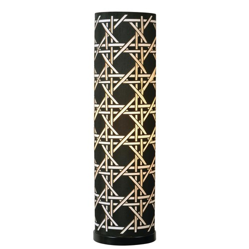 Kenroy Home Xavier 28 in. Black Table Lamp with White Shade