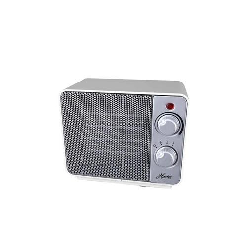 Hunter 1500-Watt Ceramic Retro Electric Portable Heater - White