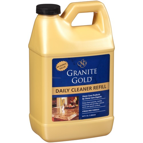 Granite Gold Daily Cleaner Refill daily granite cleaner, streak-free formula for stone countertops, marble, quartz, and tile, 64 oz. [Daily Cleaner Refill, 64 fl. oz.]