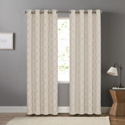 SONOMA Goods for Life Embroidered Trellis Dynasty Window Curtain