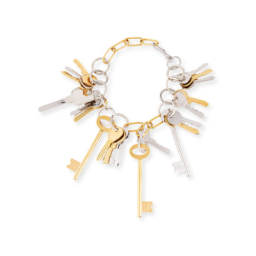 Brass Key Lock Necklace