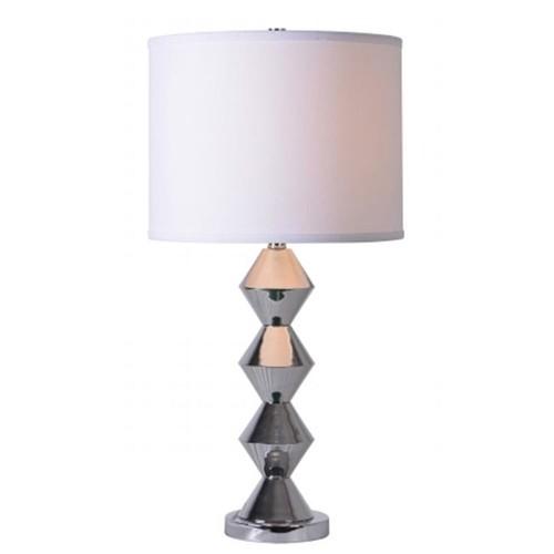 Kenroy Home Dreidel 28 in. Chrome Table Lamp
