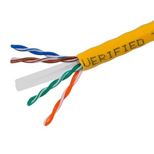 Monoprice 108109 1000' CAT-6 Ethernet Network Cable, Yellow