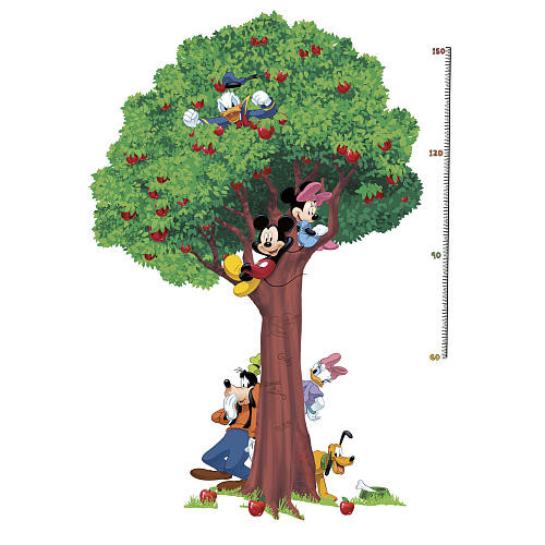 Mickey & Friends Peel and Stick Metric Growth Chart Wall Decals