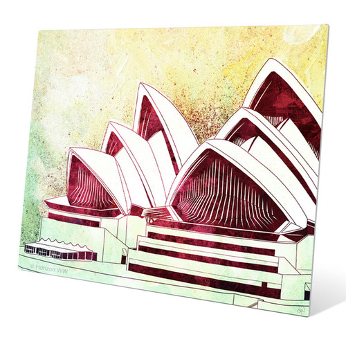 Sydney Opera House Green' Metal Wall Graphic