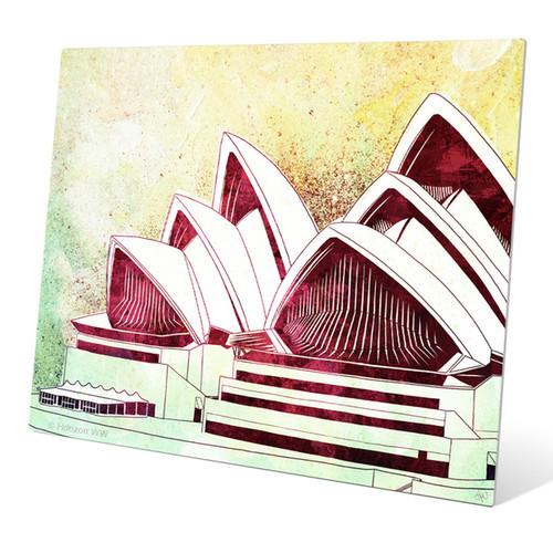 Sydney Opera House Green' Metal Wall Graphic [option : 11