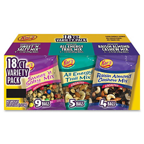 Kar's Nut and Fruit Variety Pack, Box Of 18