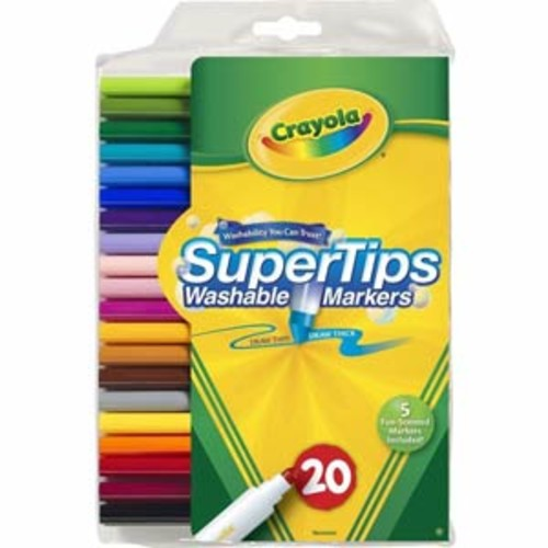 Crayola Washable Super Tips Markers - 20 Count