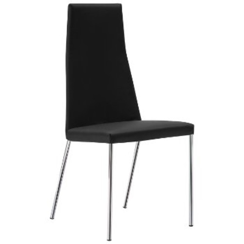 Sierra Chair Set of 2 [Fabric : Skill Black with Chrome]