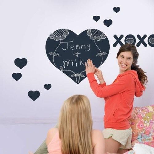 Heart Chalkboard Wall Sticker