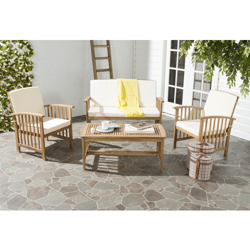 Safavieh Rocklin 4 Pc Outdoor Patio Seating Set