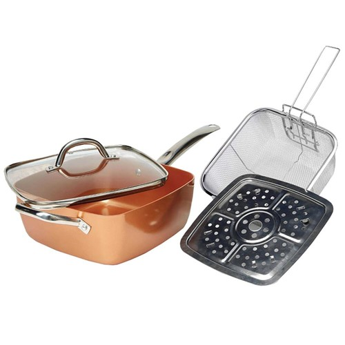 Tayama Induction Copper Square Pan