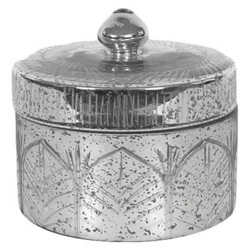 Mercury Glass Container with Lid - 3R Studios