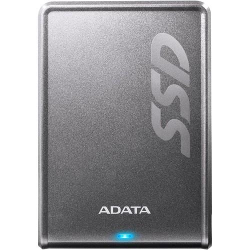 ADATA - Premier 256GB External USB 3.1 Gen1 Portable Solid State Drive - Titanium