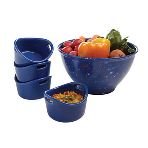 Rachael Ray Garbage Bowl And Ramekins Set, 10 Oz, Blue