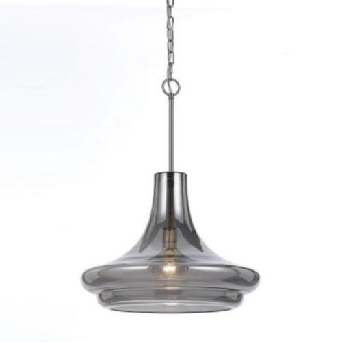AF Lighting Metro 1-Light Iridescent Smoke Glass Pendant