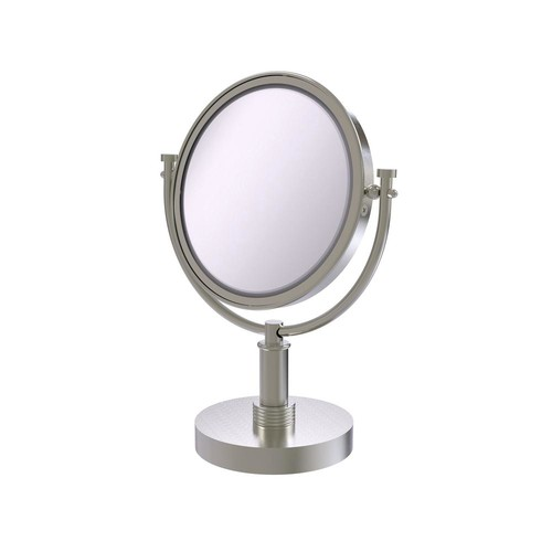 Allied Brass 8 in. Vanity Top Make-Up Mirror 5X Magnification in Satin Nickel